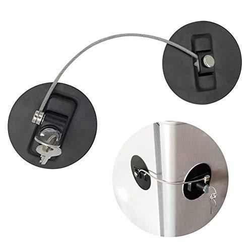 GCDN Ventana Restrictor Cerraduras con Cable de Seguridad para Infantil Seguridad del Bebé Punch-Free Fácil de Instalar Nevera Ventana Candados Cerraduras de Puerta con Tornillos Llaves