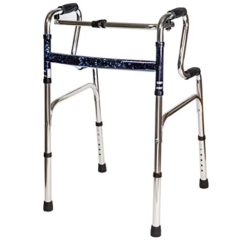 Carex Sturdy Uplift Adjustable Walker - 6lb Adult Medical Walkers - Upright Walker Folds for Easy Storage & Transport - Guaranteed Longevity & Superior Support for Seniors