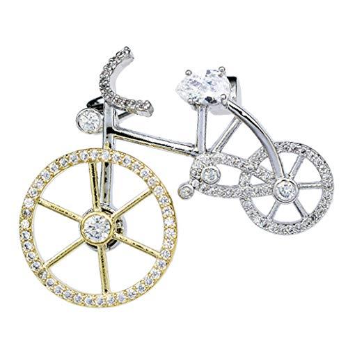 IPOTCH Spilla da Uomo Spilla Camicette con Clip in Metallo Accessori Sciarpa - Bicicletta