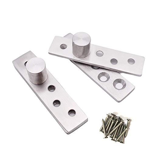Sydien Stainless Steel 270 Rotation Hidden Door Pivot Hinges 2 Sets (100x25x4mm)