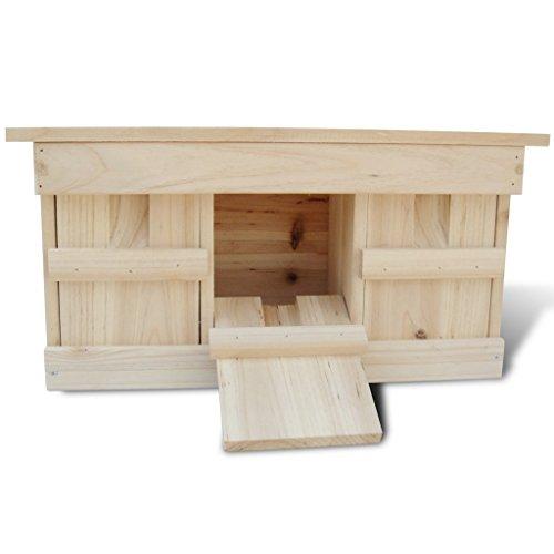 Anself Nistkasten Spatzenkolonie Spatzenhaus aus Holz für 3 Brutpaare