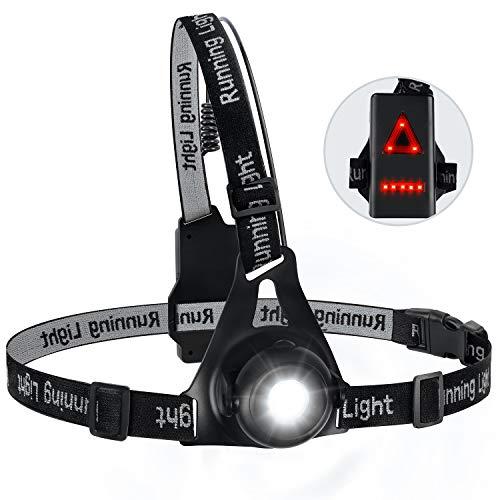 Zenoplige Running Light Lamp, Updated USB Rechargeable LED Chest Light...