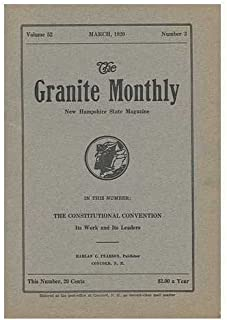 The Granite Monthly: a New Hampshire Magazine, Volume 52, March 1920, Number 3