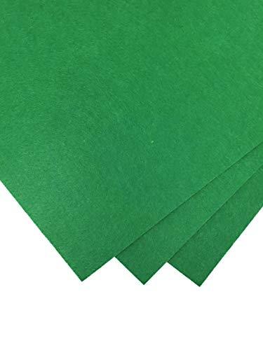 AYSIBOO - Craft Fieltro (40 x 30 cm) - 4 mm de Espesor, 3 x Hoja de Fieltro - Verde Oscuro