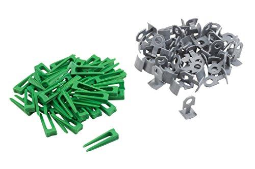 Meister Nivelliersystem für Fliesen 100-teilig - Fliesendicke 7-15 mm - Clips & Abstandhalter / Fliesen-Nivellierhilfe mit Zuglasche / Verlegehilfe mit Keilen / 4423000
