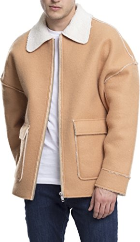 Urban Classics Herren Bonded Oversized Sherpa Jacket Jacke, Braun (Camel 804), Small