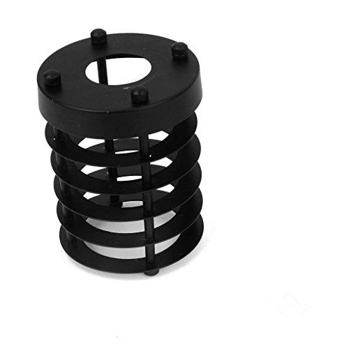 efinehome EFINE Ersatz Lofe Minimalist Art Industrie Vintage Stil Schwarz zum Aufhängen Anhänger-, Metall Drahtkäfig-Lampenschirm Zylinder Lampenschirme