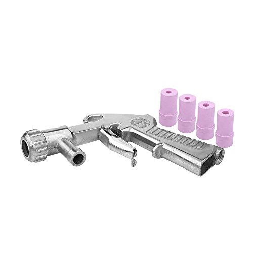 Pistola per Sabbiatura Professionale Sandblaster Air Sifone Feed Blast Gun Nozzle Ceramic Tips Sabbiatura Abrasiva con 4 Ugelli in Ceramica