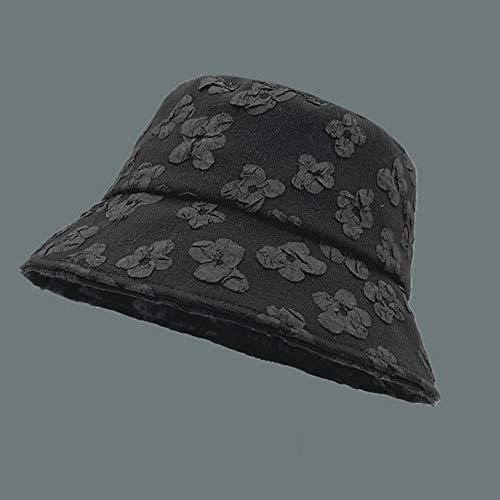 MIBQM Unisexo Gorros de Pescador Sombrero delgero de Verano Sombrilla de Sol Sombrero de Sol Sombrero-Negro