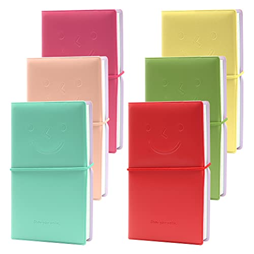 Mini Cuadernos - YOTINO 6 Piezas Portátiles Bloc de Notas Mini Cuadernos de Diario Pequeños Cuadernos Bloc de Notas Funda Imitación de Cuero Mini Cuadernos Bolsillo -To Do List, Blocs de Papel