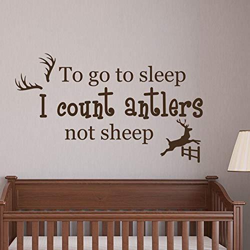Calcomanías de pared para dormir Cuento astas en lugar de ovejas pegatinas de vinilo guardería niños niñas niños habitación dormitorio decoración del hogar