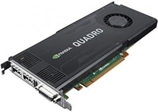 NVIDIA Quadro K4000 - Tarjeta gráfica Quadro K4000 - 3 GB GDDR5 - PCIe 2.0 x16 - DVI, 2 x DisplayPort - para ThinkStation ...