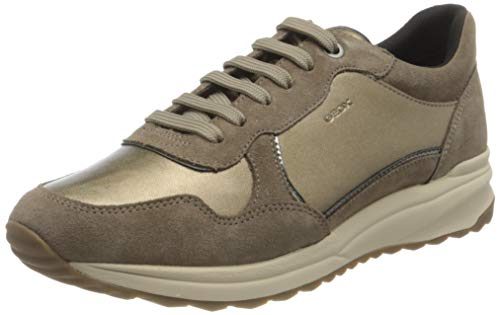 GEOX D AIRELL A TOBACCO/DK BEIGE Women's Trainers Low-Top Trainers size 39(EU)