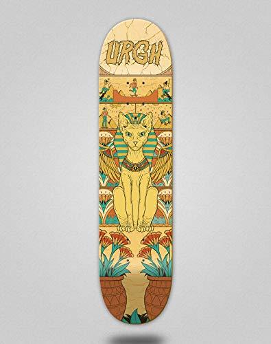 Urgh Skateboard Skateboard Deck Katze, Ägyptisch, 8.0