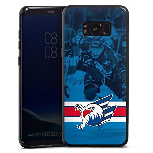 DeinDesign Silikon Hülle kompatibel mit Samsung Galaxy S8 Plus Case schwarz Handyhülle Eishockey Logo Adler Mannheim