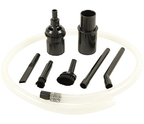McFilter Univeral Staubsaugerdüse-Set (PC-Reinigungsset) | 8-teiliges, | schwarz, Rohranschluss Ø 32 / 35 mm | Staubsaugerdüse mini, Fugendüse, Staubpinsel,Schlauchverlängerung, Adapter | für Hobby, C