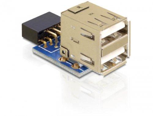 DELOCK MBz USB Pinheader Bu > 2x USB2.0-A Bu V