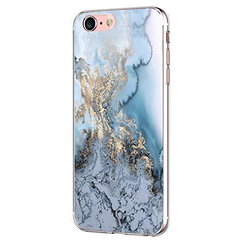 Pacyer iPhone 7 Hülle iPhone 8 Hülle Silikon Ultra dünn Transparent Handyhülle Durchsichtige Rückschale TPU Schutzhülle für Apple iPhone 7/8 Case Cover Marmor (8)
