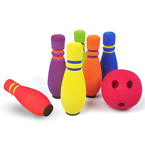 7PCS Kids Bowling Set Interactive Soft Foam Bowling Game Bowling Pins and Balls Children Educational Toy