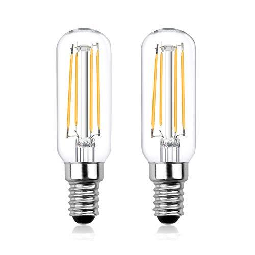 Luxvista 12V E14 Glühlampe LED 4W T25 Filament Lampe Birne Warmweiß 3000K 12-24V Edison Glühbirne Ersatz 40W Halogenlampe 400LM für Kühlschrank Dunstabzugshaube RV Zimmer (2 Stück, Nicht Dimmbar)