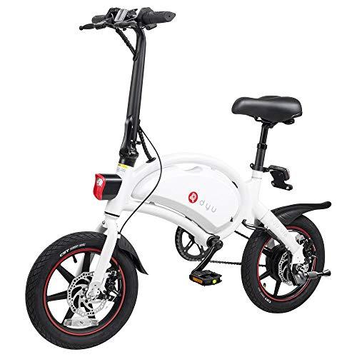 DYU D3+ Bicicleta Eléctrica Plegable, Motor de 250W hasta 25 Km/h, Bateria...
