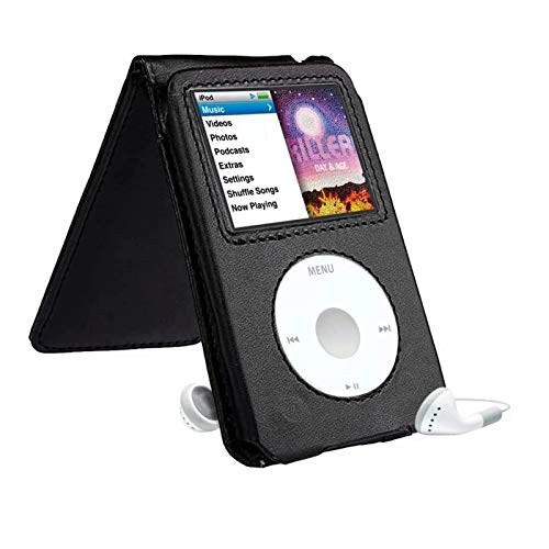 Paddsun Leather Case for iPod Classic 80G 120G 160GB Classic Protective with Movable Belt Clip Black