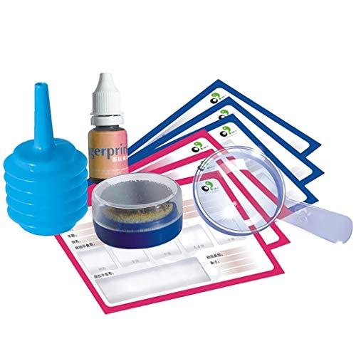 F Fityle Kit de Investigación de Huellas Dactilares para Niños, Niños, Estudiantes, Ciencia, Juguete Educativo, Regalo