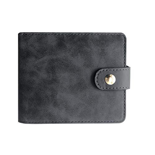 Erfhj Designer Herenportemonnee tweevoudig portemonnee herengesp portemonnee PU lederen creditcard-ID houder