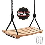 Arwinny Schaukel Holz für Kinder mit Einstellbares Seil Kinderschaukel für Innen und Außenbereich...