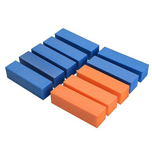 tinxi® 10 x Lima per unghie blocco di levigatura, strumento di manicure-colore causale