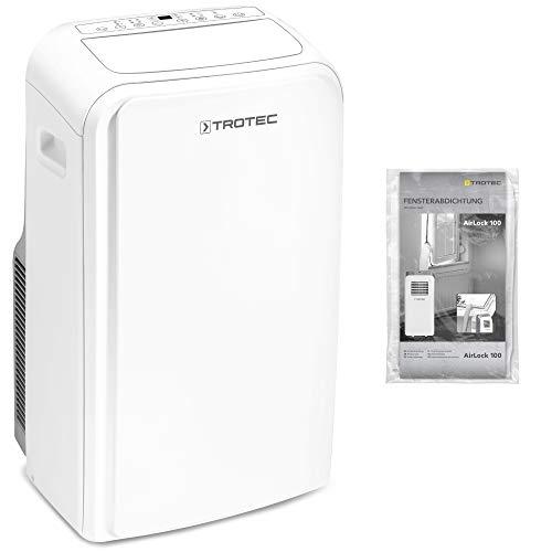TROTEC TROTEC Lokales Klimagerät PAC 3000 X A+ mobile 2,9 kW Klimaanlage mit Energie-Effizienzklasse A+ (3-in-1 Klimagerät: Kühlung, Ventilation, Entfeuchtung) inkl. AirLock 100