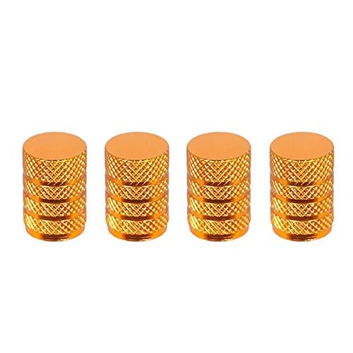 Tapa de válvula de neumático de coche 4caps / set Tapas de válvula de neumático Válvula de coche Tapas de vástago Válvula de neumático de coche Tapa de borde Naranja Naranja Dorado Amarillo-polvo de a