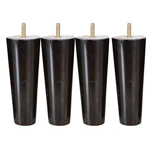 4 x Massivholz Tisch Füße Reparatur Teil für Küchenschrank-Sofa-Betten-Stuhl - Schwarz, 4 * 6 * 15cm