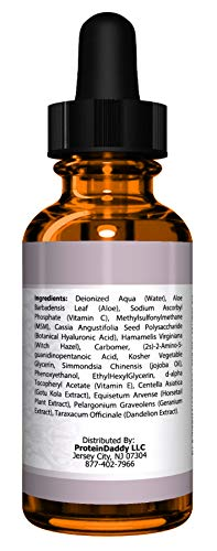 DOUBLE SIZED (2 oz) PURE VITAMIN C SERUM FOR FACE 20% With Hyaluronic Acid - Anti Wrinkle, Anti Aging, Dark Circles, Age Spots, Vitamin C, Pore Cleanser, Acne Scars, Organic Vegan Ingredients