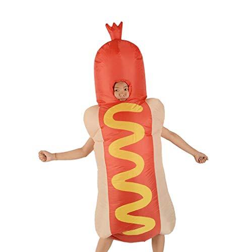 P Prettyia Aufblasbares Hot Dog Kostüm Fatsuit Coaplay/Karneval/Party Kostüm Luft Anzug Spielzeug für Erwachsene