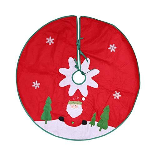 Amosfun Falda árbol Navidad 90 cm Fieltro Tela Santa