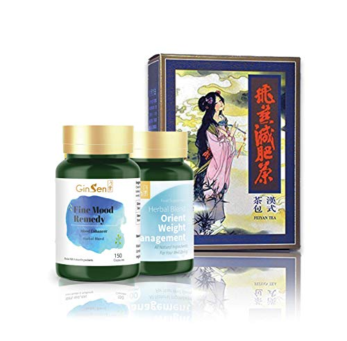 Stress Weight Kit Helps with Stress Caused Indigestion, Weight Gain Conditions, Excessive Appetite, Sugar Craving, Constipation, Natural Herbal Supplement, Chinese Medicine, Made in UK