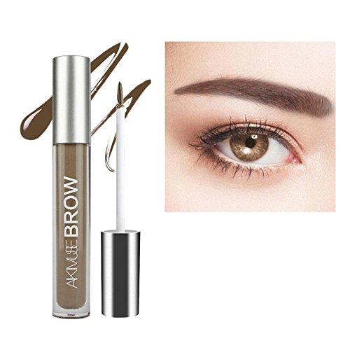 Gel Sourcils, KISSION Boir Brun Teinte Sourcils Gel Maquillage Sourcils, 2 Minutes Gel Imperméable Aux Sourcils + Pinceau Teinte Sourcils Colorant (BRUNETTE)