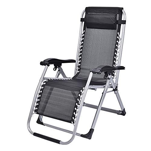 Axdwfd Chaise longue Lounge Chair, chaise pliante Déjeuner Chaise Siesta Lit Multi-fonction Home Office Portable Plage Loisirs Femmes Enceintes Compter Sur La Chaise 62 * 53 * 100 cm