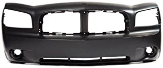 Black Steelcraft 52220P Bumper for 06-10 Dodge Charger Police Push Bumper