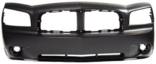 CarPartsDepot, Front Bumper Cover Assembly Fog Holes New Primed w/o Performance Package, 352-17851-10-PM CH1000461 4806179AC