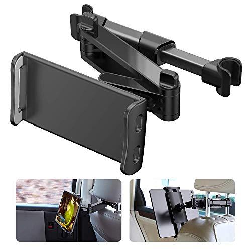 NIERBO Soporte Tablet Coche Ajustable Soporte Tablet para Auto,Soporte para Reposacabezas Compatible con Apple iPad Air/Mini,Samsung Galaxy Tab