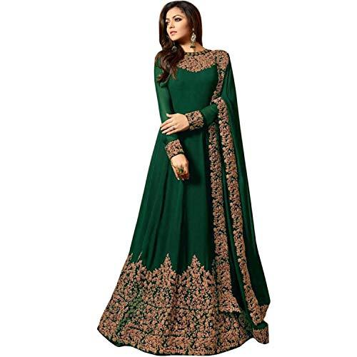 Skyview Fashion Women's Bollywood Anarkali Faux Georgette Salwar Kameez Lomg...