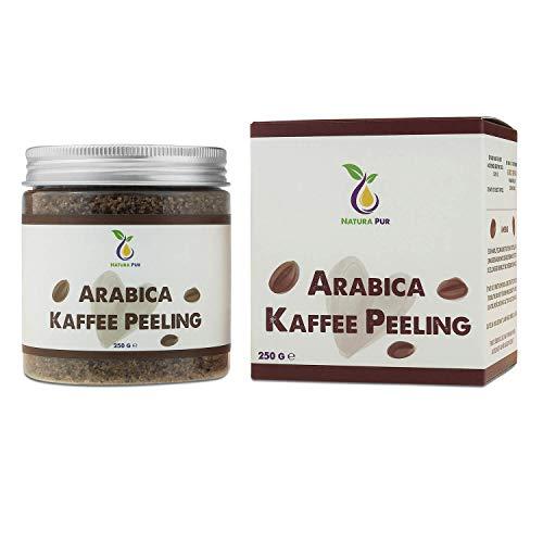 Arabica Kaffee Peeling 250g, vegan - natürliches Body Scrub Körperpeeling - Anti-Aging Pflege gegen unreine Haut für Gesicht und Körper