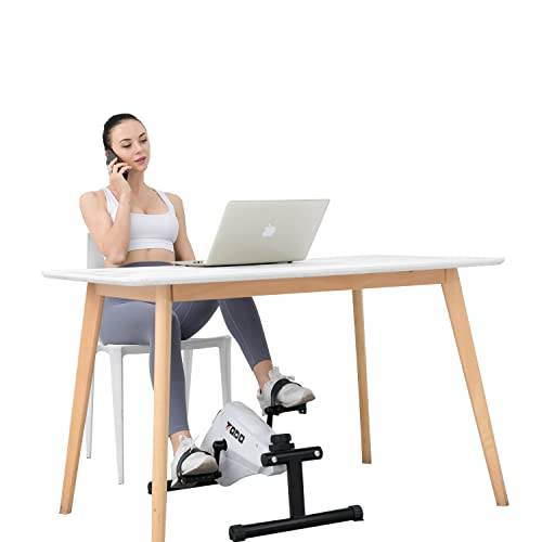 Mini Pedal Exerciser Desk Exercise Bike Magnetic Resistance Smooth and Quiet Leg and Arm Exercise Equipment
