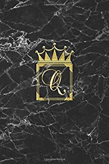 Q: Cute Monogram Initial Letter Q Crown Notebook. Classy Woman Blank Lined Diary & Journal. Personalized Notepad for Girl...