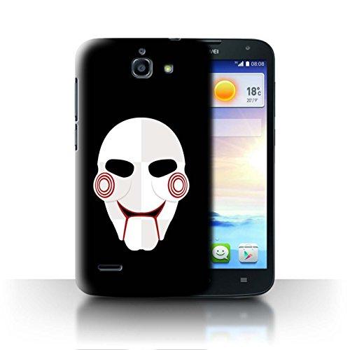 Hülle Für Huawei Ascend G730 Grusel Filmkunst Jigsaw Clown Inspiriert Kunst Design Transparent Ultra Dünn Klar Hart Schutz Handyhülle Case