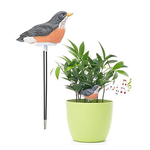 SNOWINSPRING Boden Feuchtigkeits Messer Bew?Sserung Alarm Vogel Pflanze Wasser Tester Hygrometer Sensor Garten Werkzeug Kit für Pflanz Gef?? Wasser Erinnern Warnen Alarm (Schwarz)