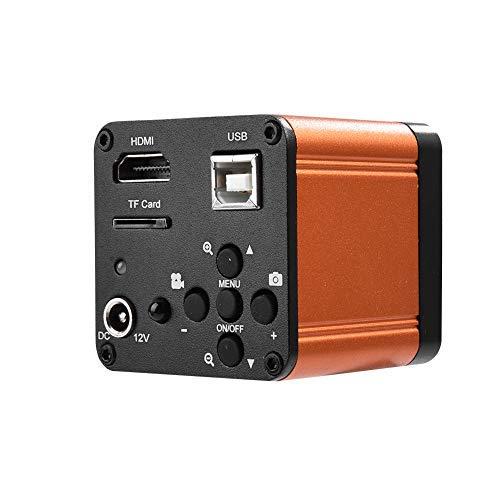 Akozon - Telecamera industriale da 16 MP, 110-240 V, 1080P, 60 FPS, HDMI, USB, per industria industriale, FHD, microscopio digitale, HDMI, USB, HD, TF, colore: Arancio (spina UE)