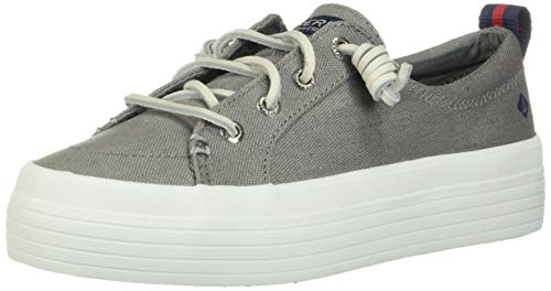 Sperry Top-Sider Women's Crest Vibe Washed Linen Grey Oxford